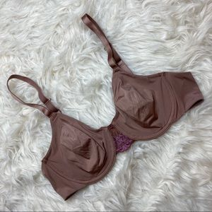 Wacoal • Soft Brown with Purple Lace Bra